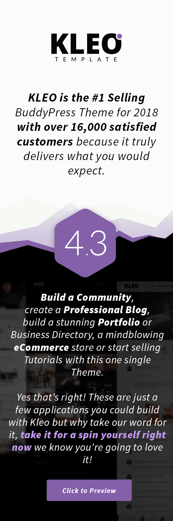 KLEO - Pro Community Focused, Multi-Purpose BuddyPress Theme - 1