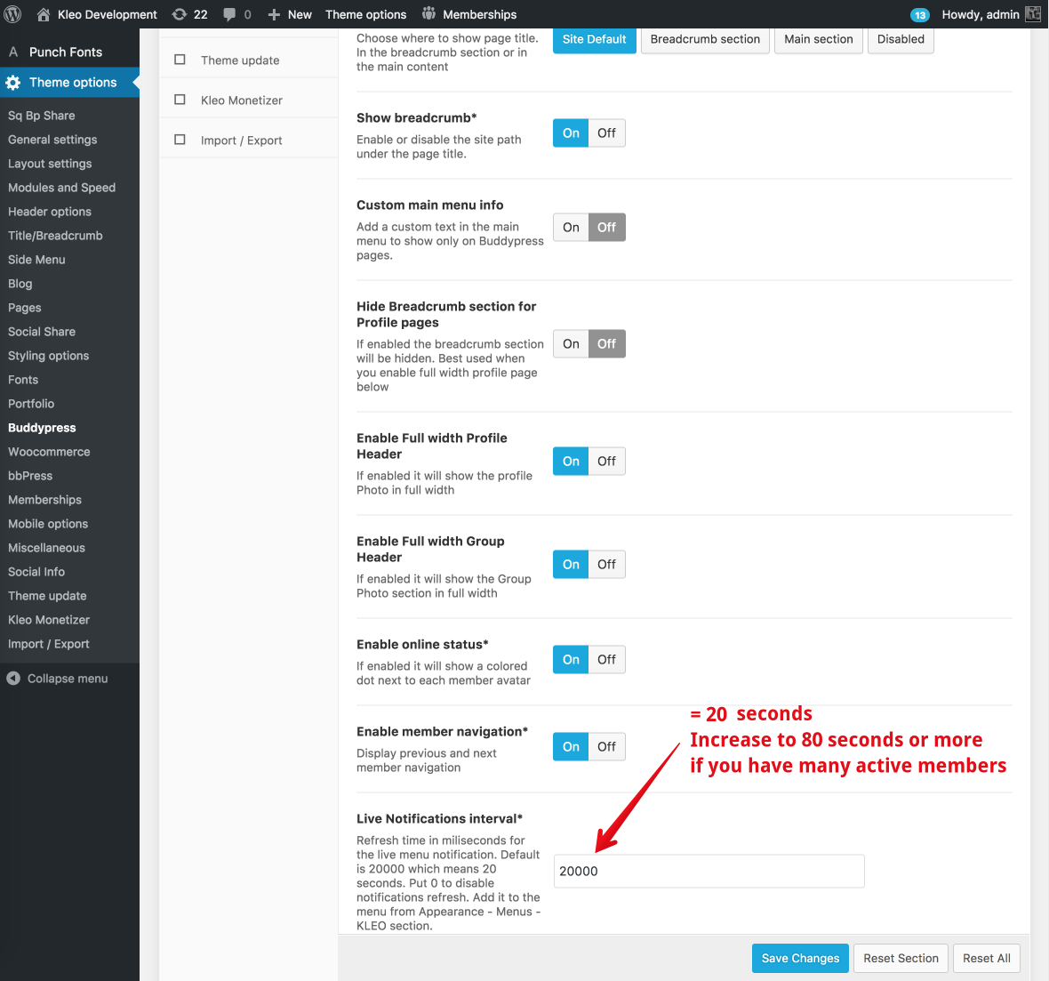 Ajax Interval Refresh notifications & messages ( High server cpu